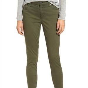 KUT from the Kloth Donna Ankle Skinny Jeans Moss